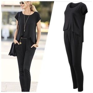 CAbi Black Playsuit Jumpsuit Style 5232, Size S
